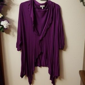 Fashion Bug hankie hem cardigan tunic